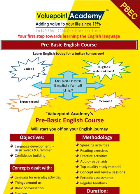 Pre-Basic English Course